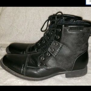 Madden Mens Bach Black Ankle Boots Size 10.5M